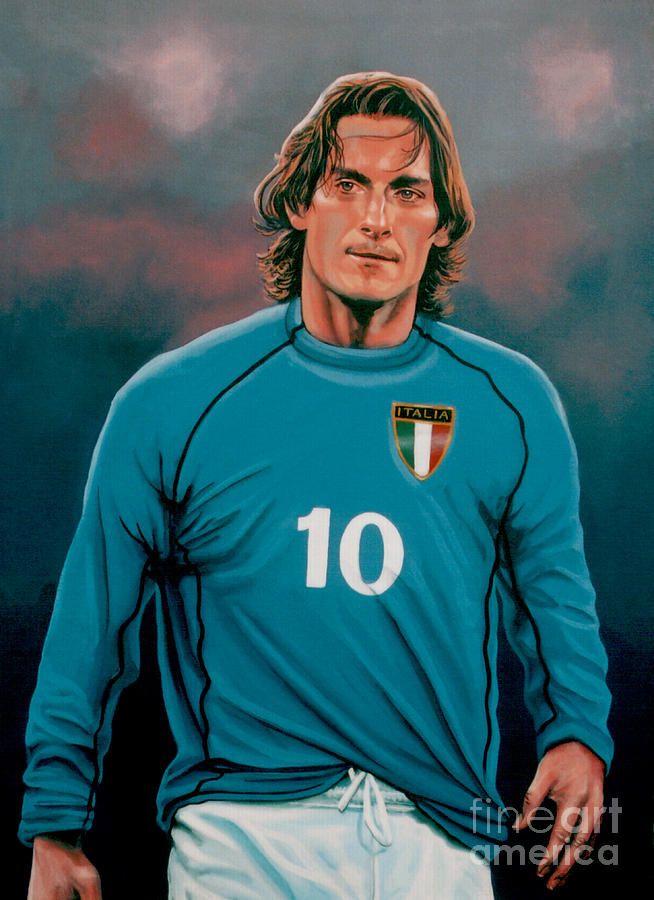 Francesco Totti Painting -  Francesco Totti 2 by Paul Meijering