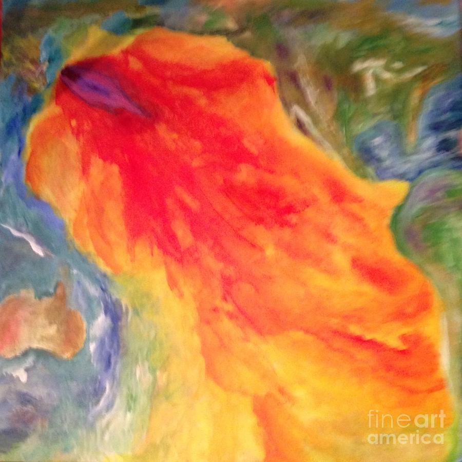 Fukushima Painting -  Fukushima Madness - Wake Up by Bebe Brookman