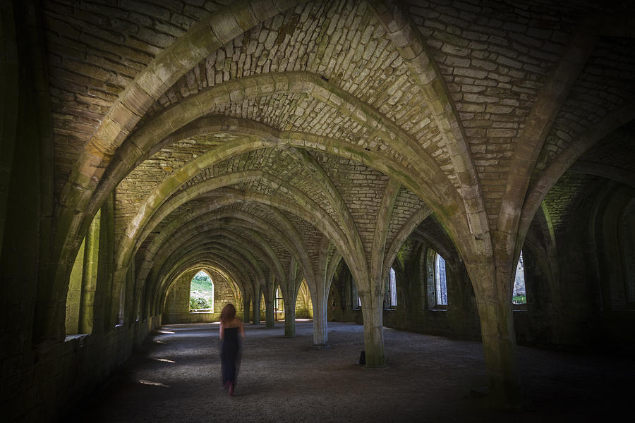 Fountains Abbey Photograph -  Ghost by Chris Smith