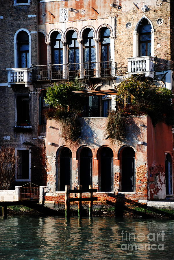 Venice Photograph -  Great Digs In Rialto by Jacqueline M Lewis