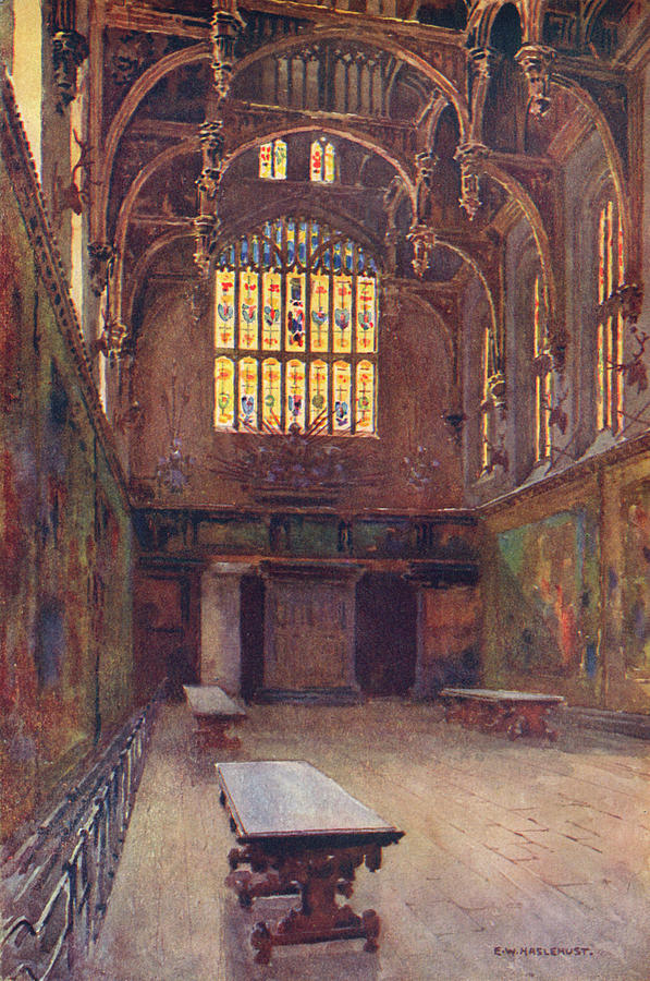 Hampton Drawing -  Hampton Court The Great Hall by Mary Evans Picture Library
