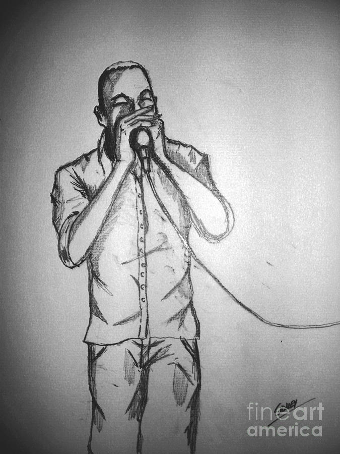 Music Drawing -  Harmonica  Sings by Sidney Holmes