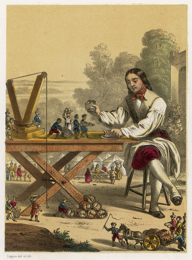 Servants Drawing -  He Is Given Six Hundred  Servants by Mary Evans Picture Library