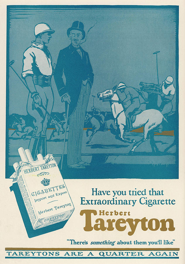 Advert Drawing -  Herbert Tareyton Cigarettes - Theres by Mary Evans Picture Library