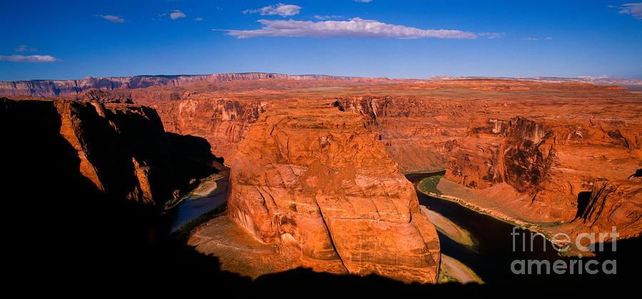 Arizona Photograph -  Horseshoe Bend Sunrise Panorama by Tracy Knauer