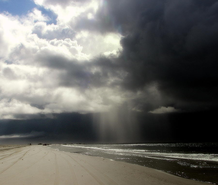 Stormy Skies Photograph -  Hurricane Glimpse by Karen Wiles