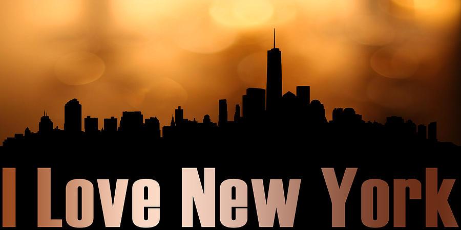 America Mixed Media -  I Love New York by Tommytechno Sweden