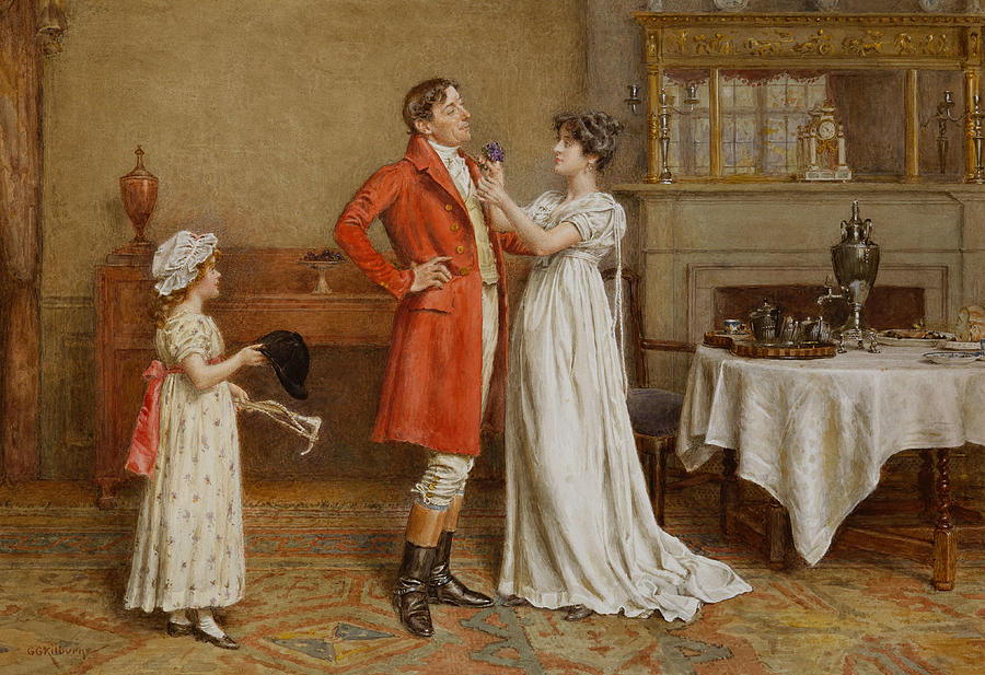 Hunter Painting -  I Wish You Luck by George Goodwin Kilburne