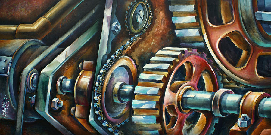 Mechanical Painting -  In Harmony  by Michael Lang