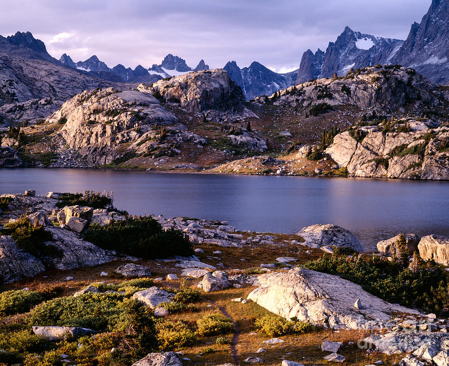 Continental Divide Photograph -  Island Lake And Wind River Range by Tracy Knauer