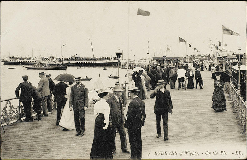 Isle Photograph -  Isle Of Wight  Ryde, On The Pier by Mary Evans Picture Library