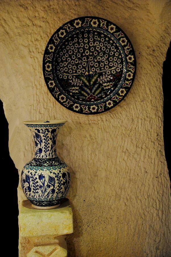 Turkish Tiles Photograph -  Iznik Tile Work by Jacqueline M Lewis