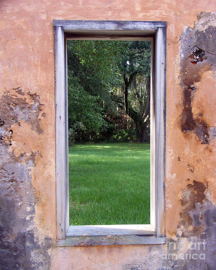 Window Photograph -  Jeckyll Island Window by Tom Romeo