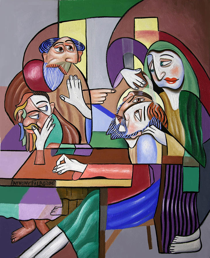 Jesus Anointed At Bethany Painting -  Jesus Anointed At Bethany by Anthony Falbo