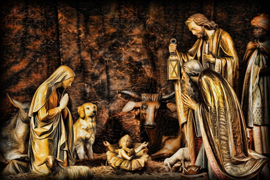 Christmas Photograph -  Jesus Had A Labrador by Lee Dos Santos