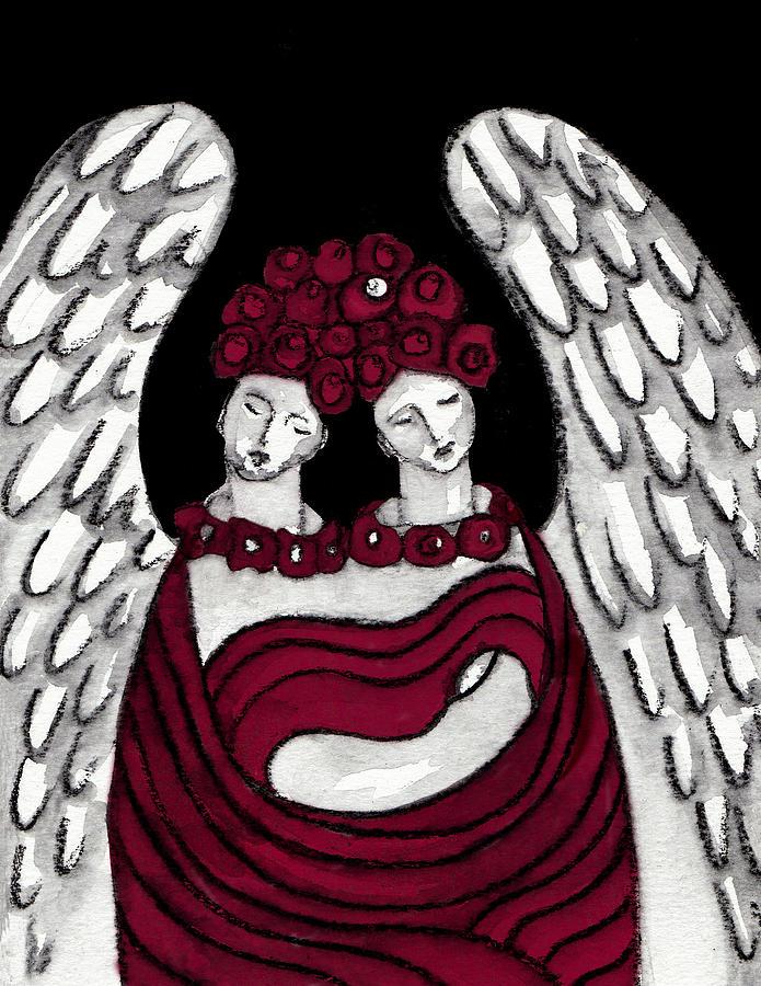 Angel Painting -  Keepers No 14 by Milliande Demetriou