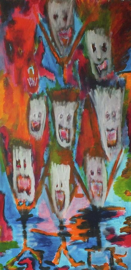 Ghosts Painting -  Laughter by Randall Ciotti