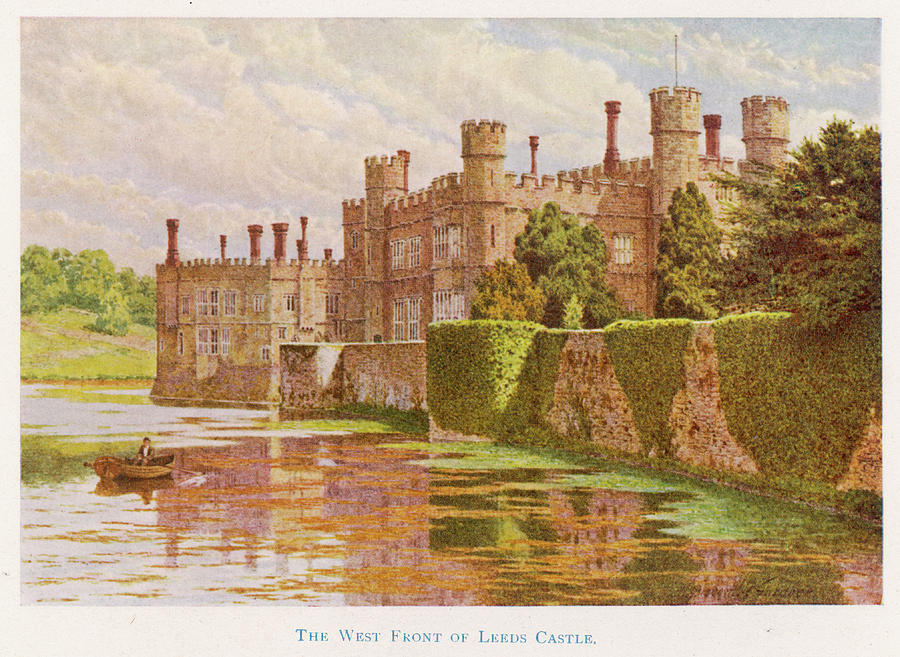 Leeds Drawing -  Leeds Castle, Kent         Date 1907 by Mary Evans Picture Library