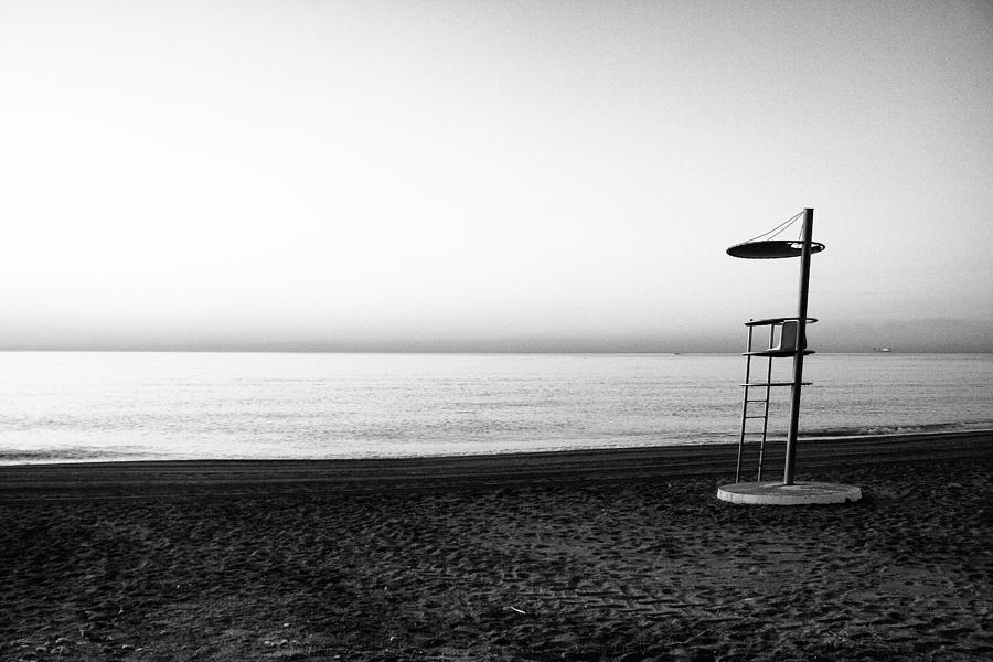 Black Photograph -  Lifeguard lookout by Goyo Ambrosio