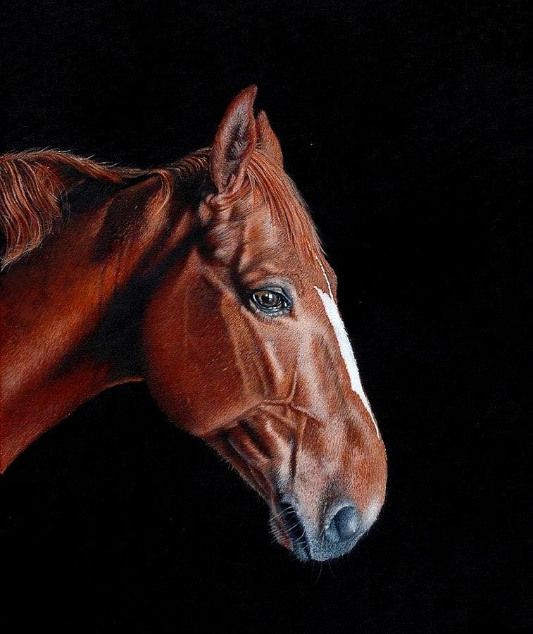 Horse Painting -  Listening by Bob Fox