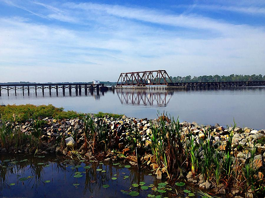 Railroad Photograph -  Little Washington Trestle by Joan Meyland