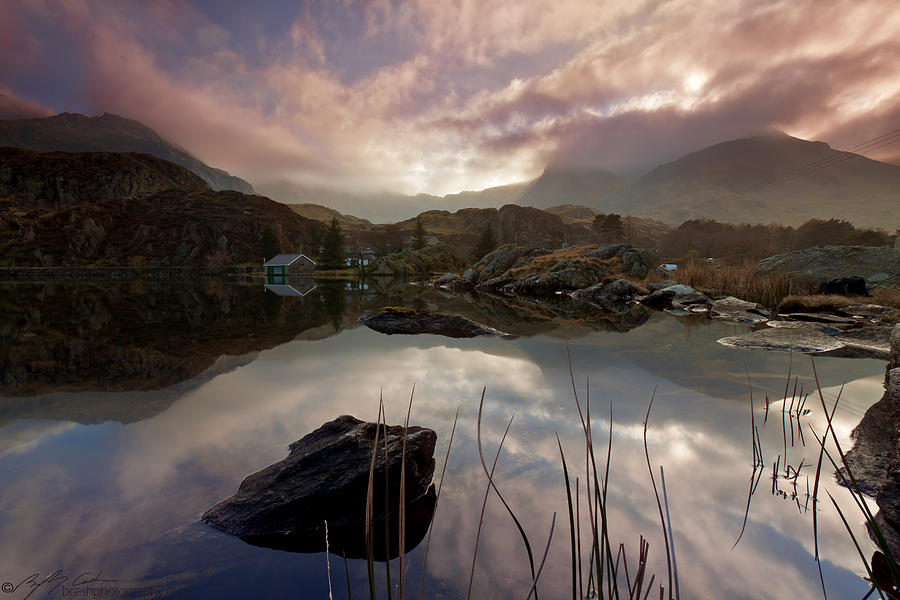 Llyn Ogwen Photograph -  Llyn Ogwen Sunset by Beverly Cash