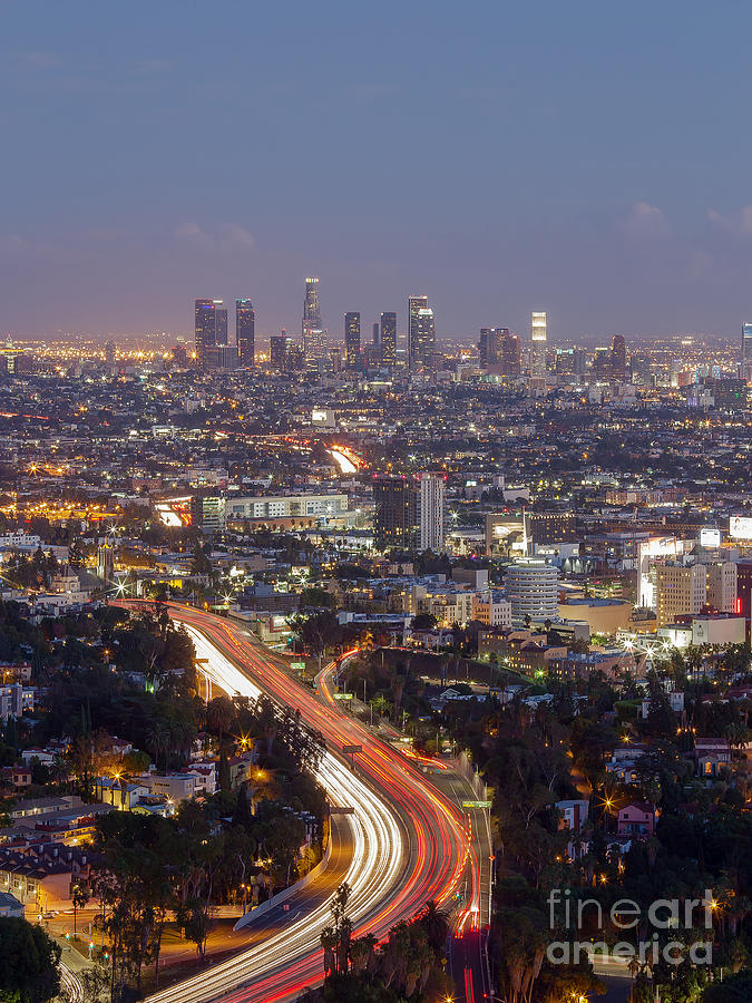 Los Angeles Photograph -  Los Angeles by Shishir Sathe