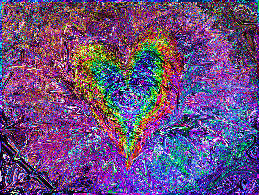 Valentines Mixed Media -  Love From The Ripple Of Thought  V 5  by Kenneth James