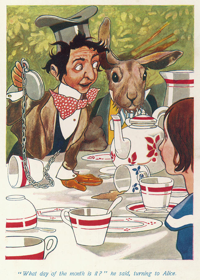 Mad Hatter S Tea Party What Day Drawing By Mary Evans Picture Library