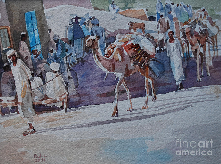 Market Painting -  Market by Mohamed Fadul