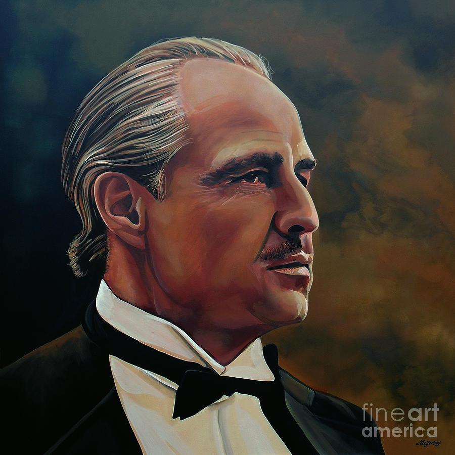 Marlon Brando Painting -  Marlon Brando by Paul Meijering