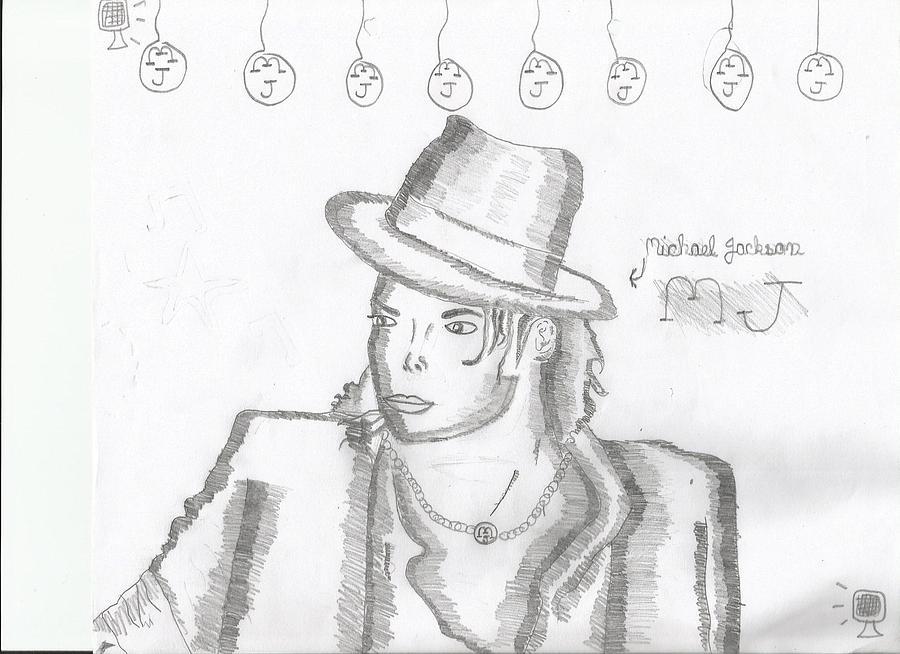 Micheal Jackson Drawing by Ratnesh  Bhardwaj