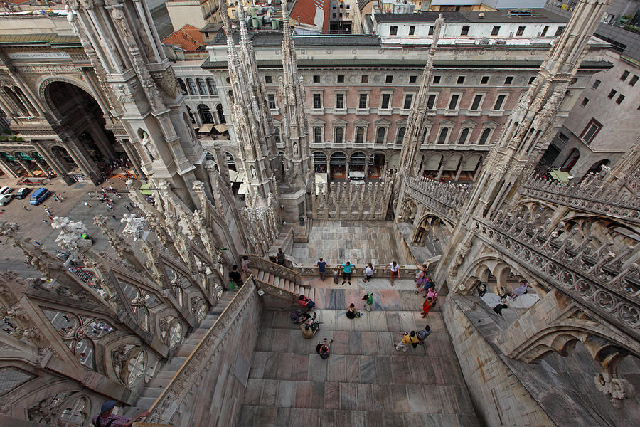Italy Photograph -  Milan From The Roof by Susan Rovira