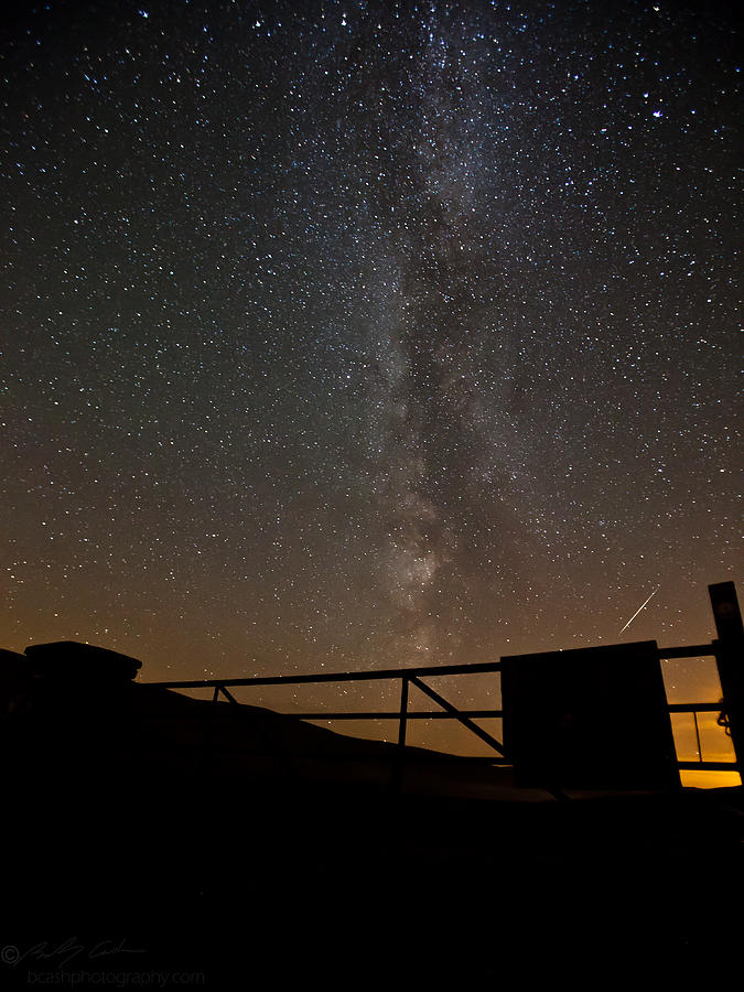 Astrophotography Photograph -  Milky Way Behind The Gate by Beverly Cash