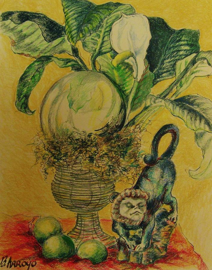 Monkey Shine Drawing -   Monkey  Shine by Beth Arroyo