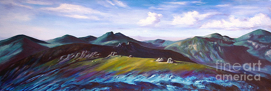 Irish Painting -  Mourne Mountains 1 by Anne Marie ODriscoll