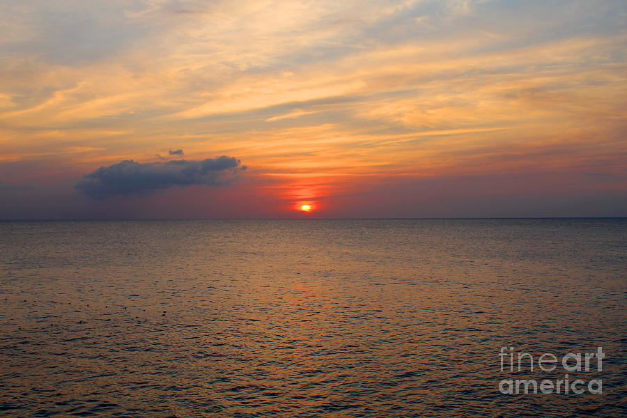 Jamaica Photograph -  Negril Rose Sunset by Debbie Levene