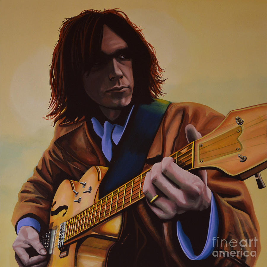 Neil Young Painting -  Neil Young Painting by Paul Meijering