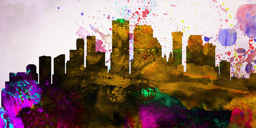 New Orleans Painting -  New Orleans City Skyline by Naxart Studio