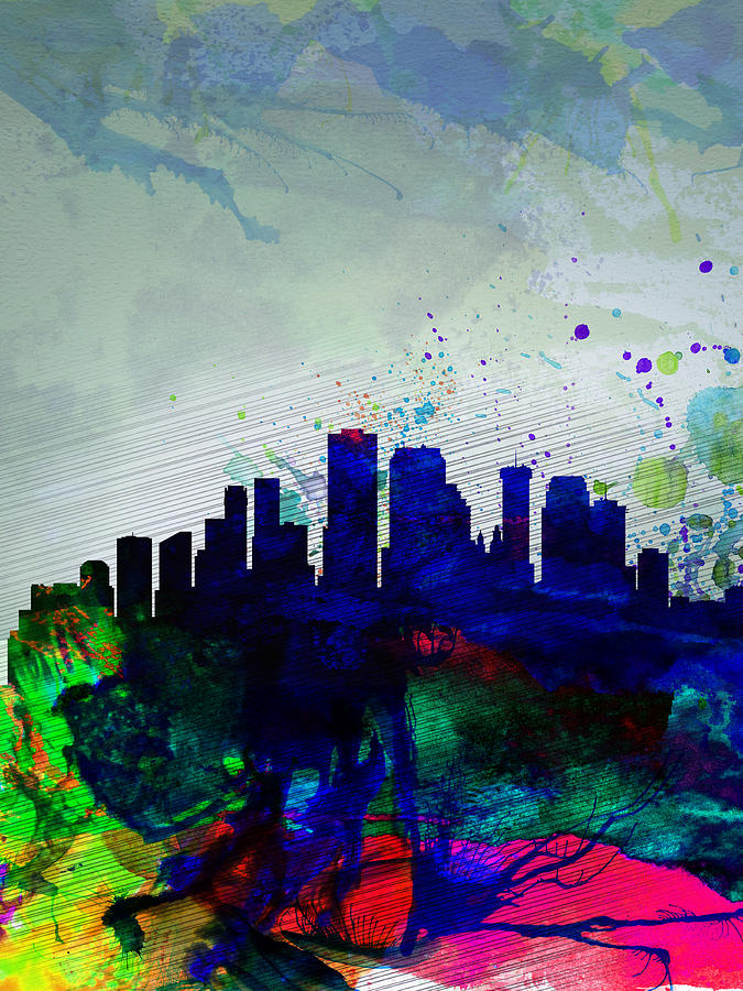 New Orleans Painting -  New Orleans Watercolor Skyline by Naxart Studio
