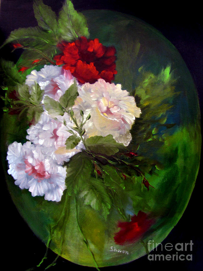 Roses Painting -  Of Rhapsodies And Roses by Sharon Burger