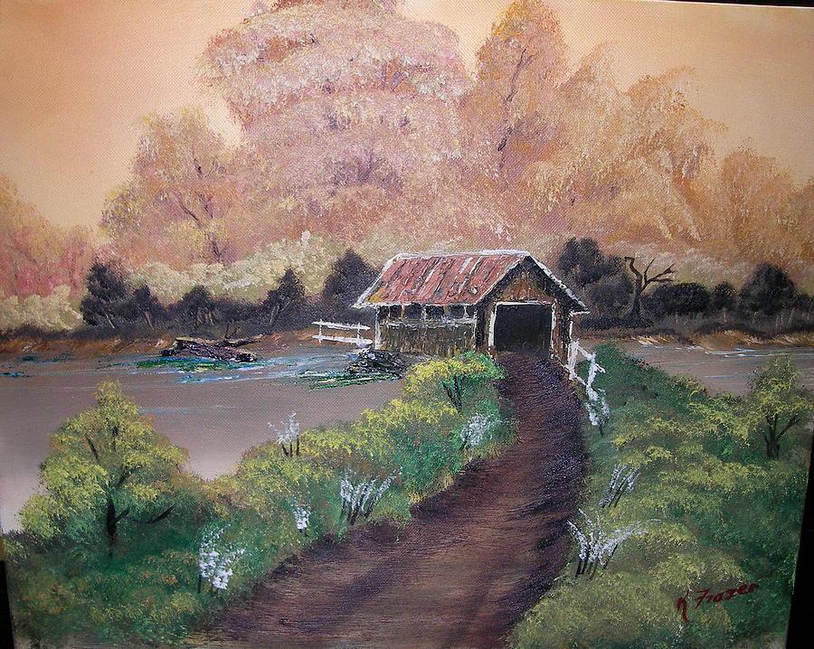 Bridge Painting -   Old Covered Bridge by Ken Frazer