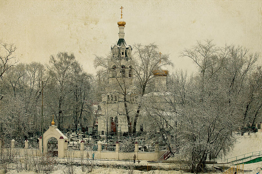 Old Photograph -  Old Russian Church by Mikhail Pankov