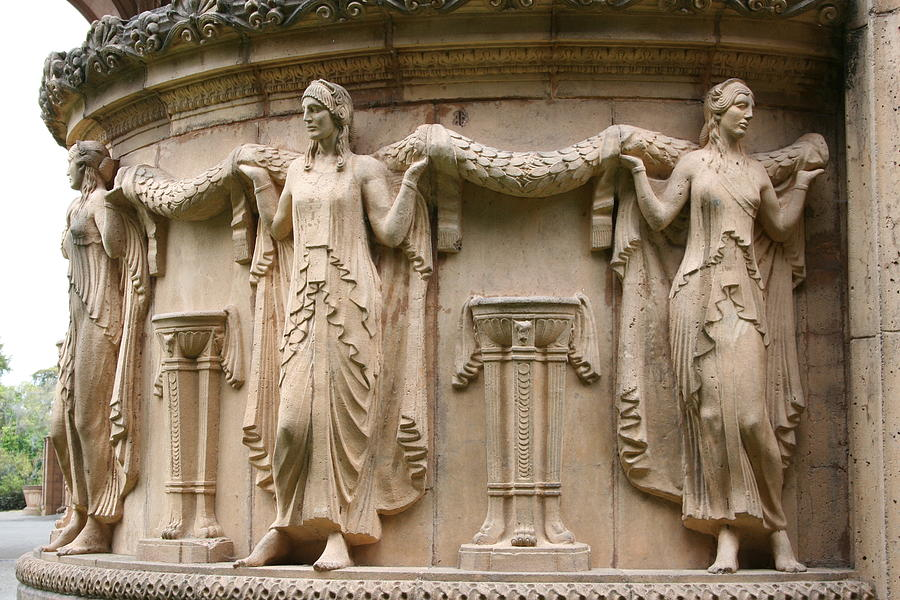 San Francisco Photograph -  Palace Of Fine Art Relief  by Christiane Schulze Art And Photography