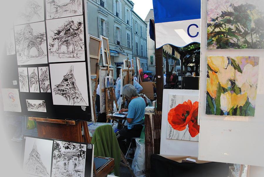 Montmartre Photograph -  Paris Montmartre Place Du Tetre by Jacqueline M Lewis