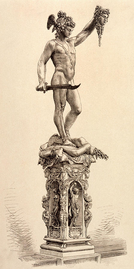 Perseus With The Head Of Medusa Chief