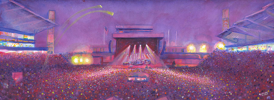 Phish Painting -  Phish At Dicks by David Sockrider