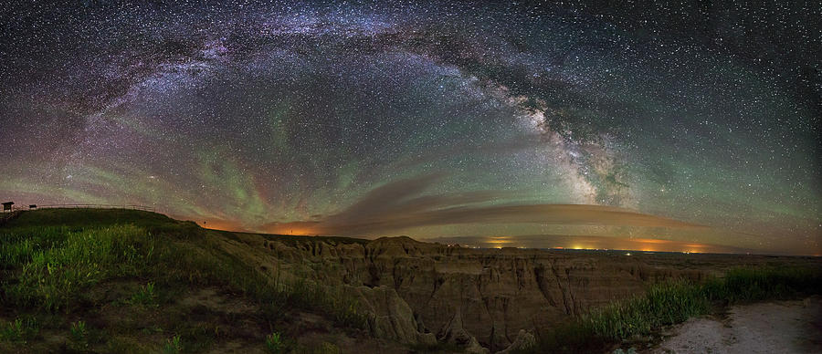 Milky Way Photograph -  Pinnacles Overlook at Night by Aaron J Groen