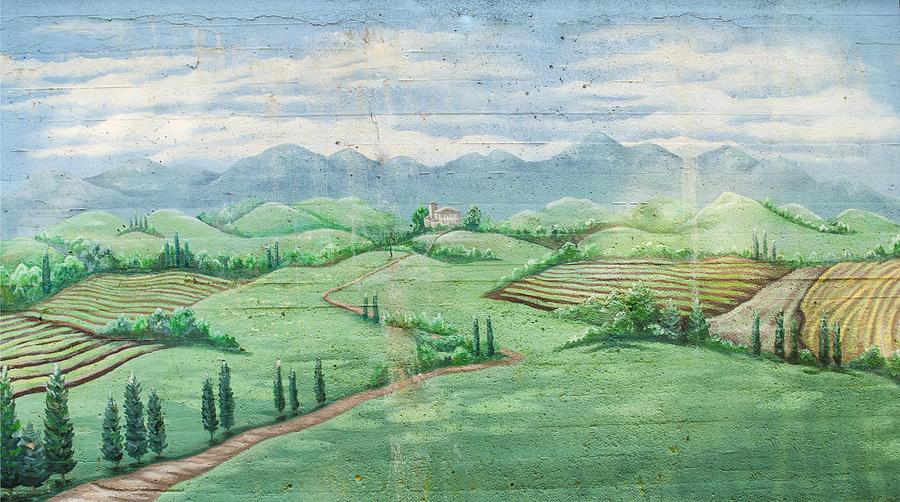Monet Photograph -  Plain Near Auvers...street Artist Rendetion  by Roger Lapinski