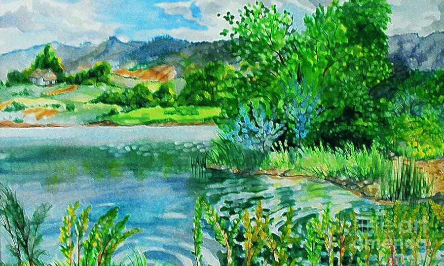 Plin Air Water Color Digital Art by Annie Gibbons